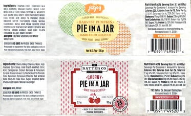 Pie in a Jar Labels