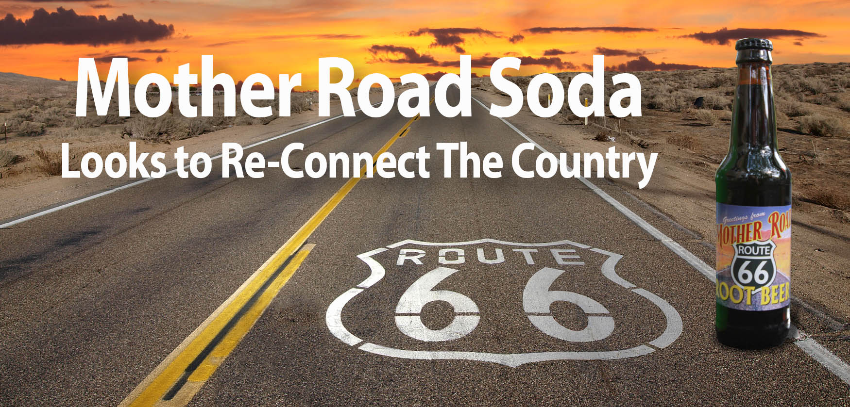 Route 66 with soda-words