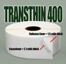 Transthin 400 labels with text