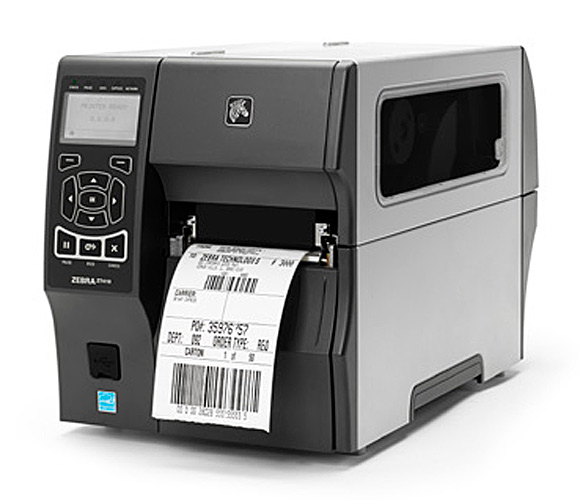 Zebra label printer with address label